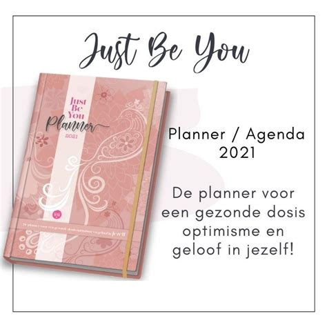 Just Be You Planner Agenda 2021 in 2020 | Inspirerende