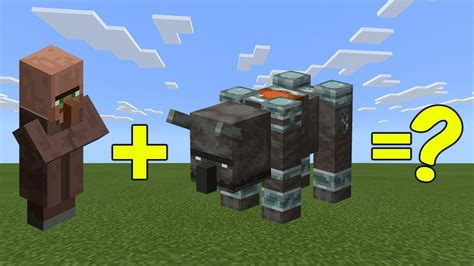 I Combined a Villager and a Ravager ( Illager Beast ) in
