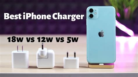 Best iPhone fast charger 18w vs 12w vs 5w - YouTube